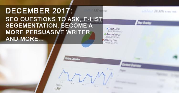 Monthly Digital Marketing News Update: December 2017